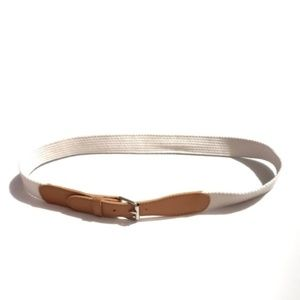 3/$30 90s vintage belt cream and tan woven